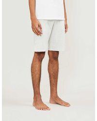 Polo Ralph Lauren Cotton-jersey Logo-print Pajama Shorts - White