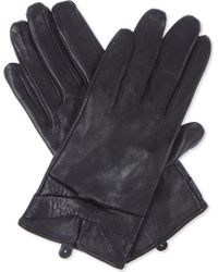 Sandro - Leather Gloves With Bow Detail - Lyst