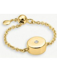 Monica Vinader - Linear Solo Adjustable Friendship Diamond Ring - Lyst