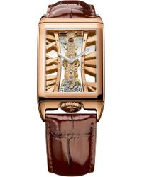 Corum - 113.050.55/0f02 Mx55r Golden Bridges 18ct Rose-gold And Alligator Leather Watch - Lyst