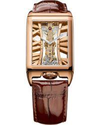 Corum - 113.050.55/0f02 Mx55r Golden Bridges 18ct Rose-gold And Alligator Leather Watch - Lyst
