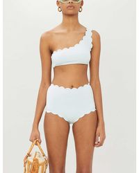 Marysia Swim Santa Barbara Asymmetric Bikini Top - White
