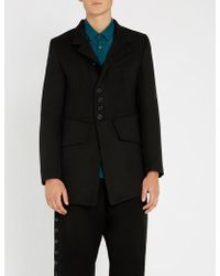 Ann Demeulemeester - Priestly Wool Coat - Lyst