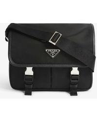 Prada Crossbody Messenger Bag - Black