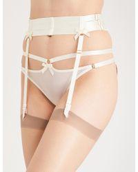 Bordelle - Harness Satin Suspender Belt - Lyst