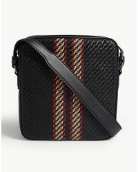 Z Zegna Pelletessutatm Leather Messenger Bag - Black