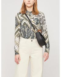 2de606936f4414 Ted Baker - Quartz Animal-print Woven Shirt - Lyst