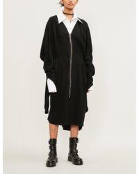 Aganovich - Cape Cotton-jersey Dress - Lyst