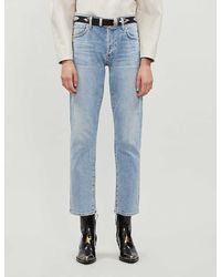Citizens of Humanity Emerson Slim-fit Boyfriend Mid-rise Jeans - Blue