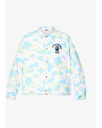 A Bathing Ape Camouflage-print Boxy-fit Shell Jacket - White