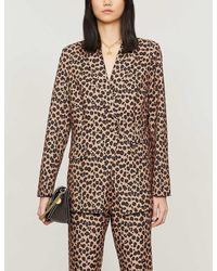 Never Fully Dressed Dynasty Leopard-print Single-breasted Stretch-woven Jacket - Multicolor