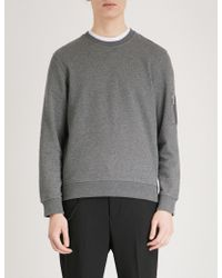 The Kooples - Zip-up Pocket Cotton-jersey Sweatshirt - Lyst