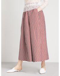 Huishan Zhang - Polka Dot Wide High-rise Jacquard Trousers - Lyst