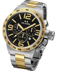 TW Steel - Cb43 Canteen Steel And Yellow Gold Watch - Lyst