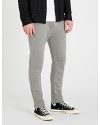 The Kooples - Zipped-cuff Tapered Cotton jogging Bottoms - Lyst