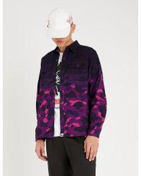 A Bathing Ape Camouflage Gradient Cotton Shirt - Purple