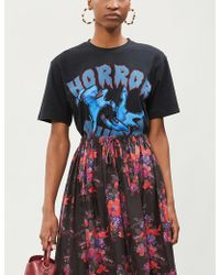 The Kooples - Horror Show Graphic Print Cotton-jersey T-shirt - Lyst