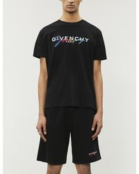 Givenchy Logo-embroidered Cotton-jersey T-shirt - Black