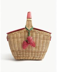 Kate Spade - Picnic Perfect Wicker Picnic Basket - Lyst