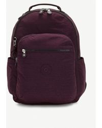 Kipling Seoul Woven Backpack - Purple
