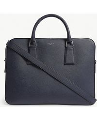 Sandro Downtown Large Saffiano Leather Briefcase - Black