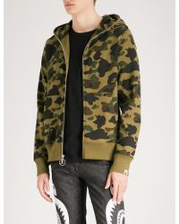 A Bathing Ape - Camouflage-print Fishing Cotton-jersey Hoody - Lyst