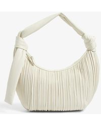 Neous Neptune Pleated Leather Hobo Bag - Multicolor
