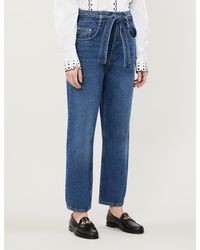 Claudie Pierlot Persane Faded Straight-leg High-rise Jeans - Blue