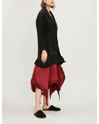 Issey Miyake - Seed Stretch Pleated Coat - Lyst
