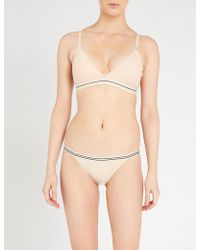 Love Stories Darling Lace Triangle Bra - Natural
