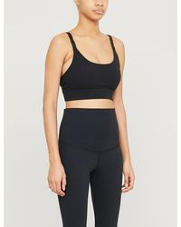 Lorna Jane Core Logo-print Stretch-jersey Maternity Sports Bra - Black