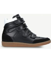 Isabel Marant - Bilsy Leather Wedge Trainers - Lyst