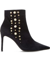 Dune - Othello Embellished Stiletto Heeled Ankle Boots - Lyst