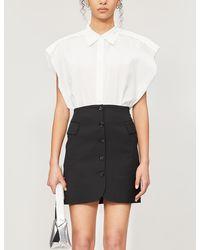 Acne Studios Button-down High-waist Woven Mini Skirt - Black