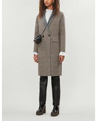 Whistles Houndstooth Checked Wool-blend Coat - Multicolour