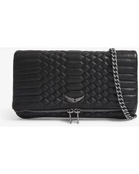 Zadig & Voltaire - Women's Noir Black Rock Quilted Leather Clutch Bag - Lyst