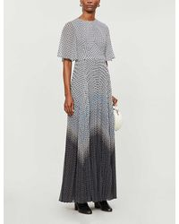 Ted Baker Trishna Printed Chiffon Maxi Dress - Black