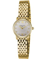 Frederique Constant - Fc200whdsd5b Slimline Mini Gold-plated Stainless Steel And Diamond Bezel Watch - Lyst