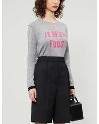 Zadig & Voltaire Gwendal Slogan-print Wool Jumper - Multicolour