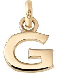 Links of London - Alphabet G 18ct Yellow Gold Charm - Lyst