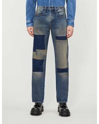 Reese Cooper Patchwork Straight-fit Jeans - Blue