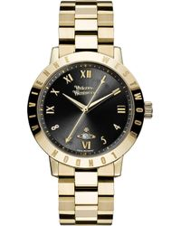 Vivienne Westwood | Vv152bkgd Gold-plated Stainless Steel Watch | Lyst