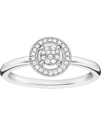 Thomas Sabo - Glam & Soul Sterling Silver Diamond Ring - Lyst