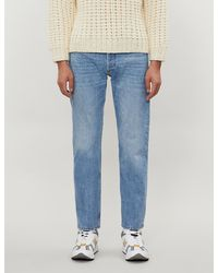 Sandro Faded Tapered Jeans - Blue