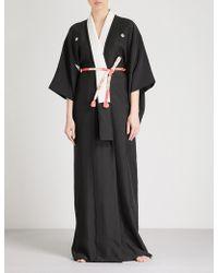 Kisshōten - Cranes Silk Kimono Robe - Lyst