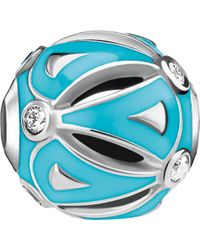 Thomas Sabo Ethno Turquoise Sterling Silver Karma Bead - Blue