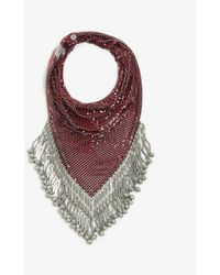 Paco Rabanne Pixel Tassel-trimmed Chainmail Scarf Necklace - Multicolour