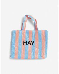 Hay Candy Stripe Medium Shopper Bag - Blue
