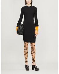 Maison Margiela Ribbed Cotton-blend Dress - Black
