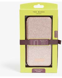 Ted Baker Sparkly Glitter Iphone Xs Max Folding Case - Pink